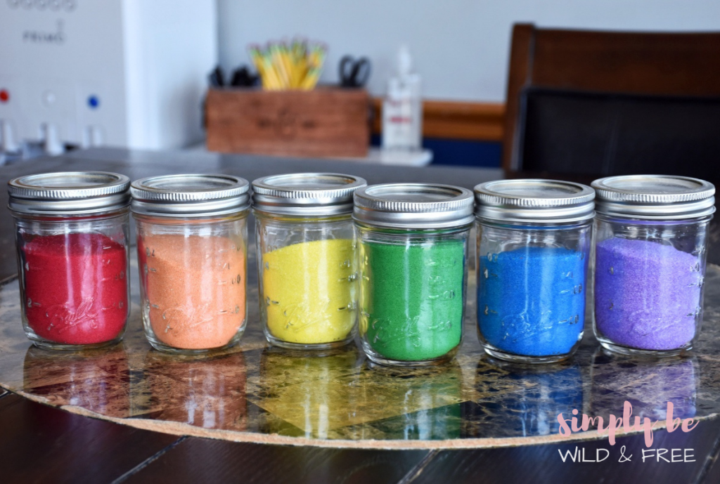 How to Store Craft Supplies for Kids Using Mason Jars