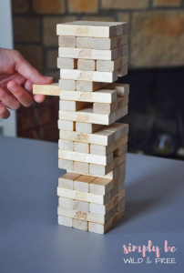 Jenga is at the Top of Our Rainy Day Games List in Our Home